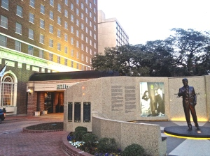 Just outside the hotel where the Ft. Worth edition of the Ted Scripps Leadership Institute was held stands a memorial plaza where JFK made his last public speech on Nov. 22, 1963.