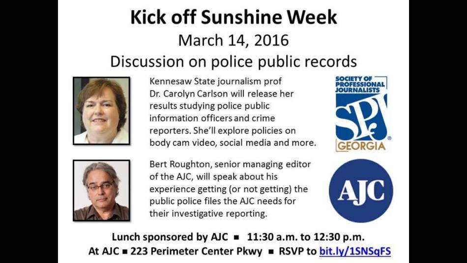 Kickoff to Sunshine Week, March14
