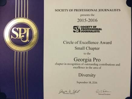 SPJ Georgia recognized for diversemembership